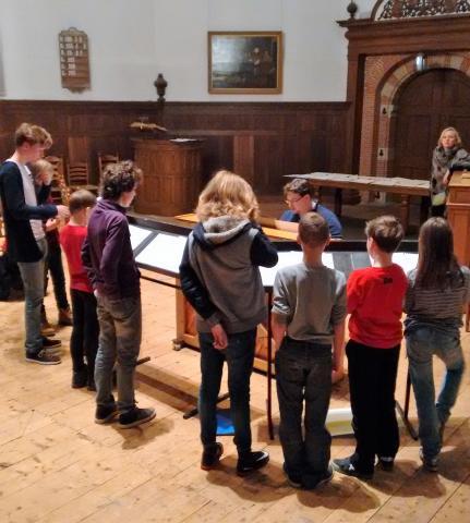 repetitie op de koorschool in Sneek